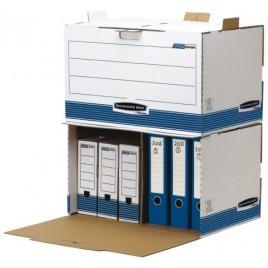 Archiefdoos Bankers Box standaard 150mm blauw-wit