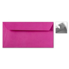Envelop Striplock 11 x 22 cm - knalroze - 120 GM - Rechte klep - Striplock