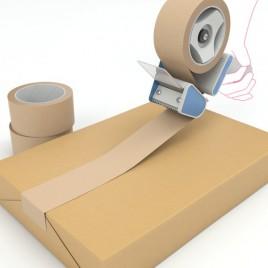 Papier tape - bruin, solvent - 59 GM2 - 50mmx50.00m - doos met 36 rollen