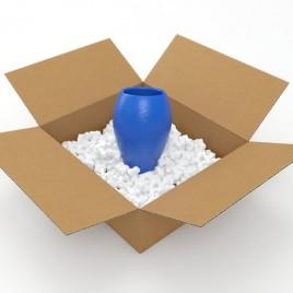 Flo-Pak, Standaard, opvulmateriaal, 8-vorm, wit, polystyreen, zak van 500 liter