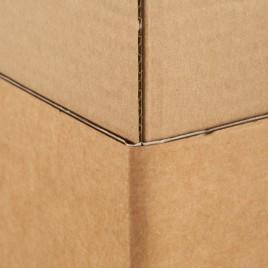 Vierkante koker enkele golf, bruin, Karton, 120mm x 120mm x 430mm, pak van 20 stuks