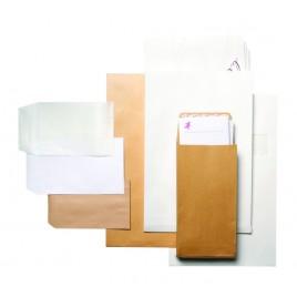 Zak/Akte Envelop,120x180mm Stalenzakjes, wit, gebleekte kraft, 80g/m2, gegomd - 1000 st.