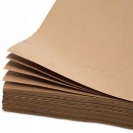 Anti-slip papier, bruin, kraft, 100g/m2, 800mm x 1200mm, telstroken per 100 vellen