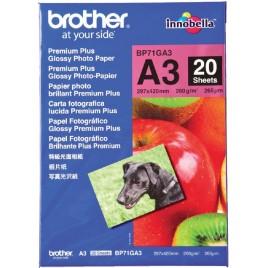 FOTOPAPIER BROTHER BP-71 A3 260GR GLOSSY 20VELY 50VEL