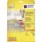 Avery Blauw afneembare gekleurde etiketten - 63,5 x 33,9 mm (b x h)
