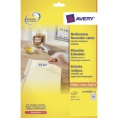 Avery afneembare witte etiketten - 63,5 x 38,1 mm (b x h)