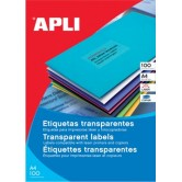 Apli Transparante etiketten ft 70 x 37 mm (b x h)