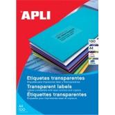 Apli Transparante etiketten - 70 x 37 mm (b x h),