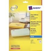 Avery Transparante etiketten INKJET - 38,1 x 21,2 mm (b x h)