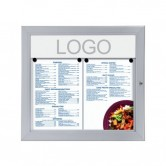 Wand menuvitrine Outdoor A4
